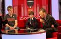 Alex Staniforth being interviewed at the BBC studios on Thursday 15th March 2012. Click for bigger image.