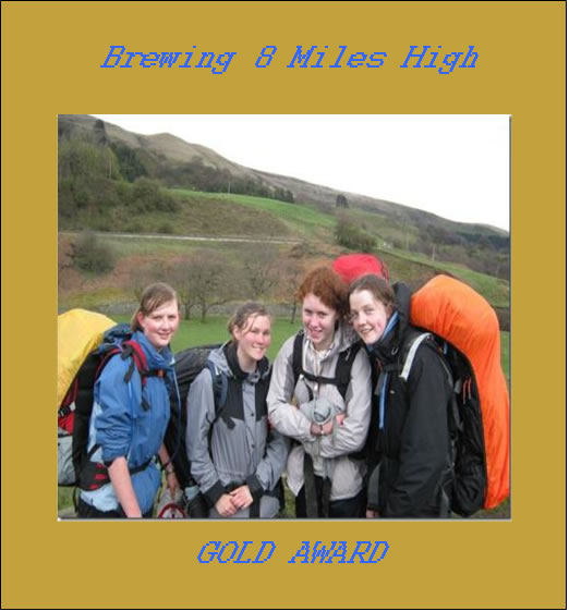 New 'Gold Award' beer at Kelsall Beer Festival, brewed in celebration of Kelsall Youth Club's first ever D of E Gold Award