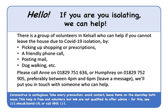 Kelsall Support Network