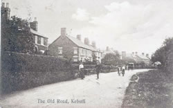 The Old Road (Old Coach Road), looking east. Click image for bigger size.
